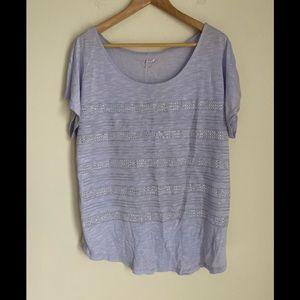 NWOT APT.9 lavender silver studded striped top